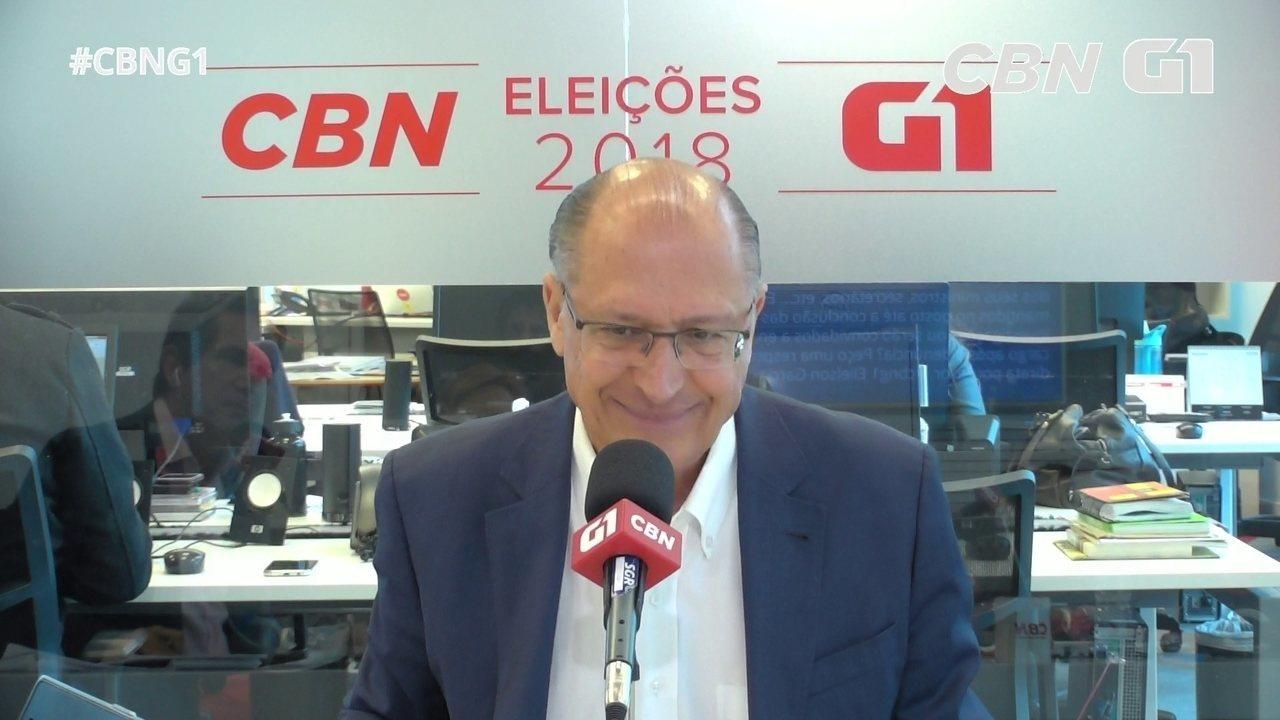 Alckmin responde às perguntas do 'pinga-fogo'