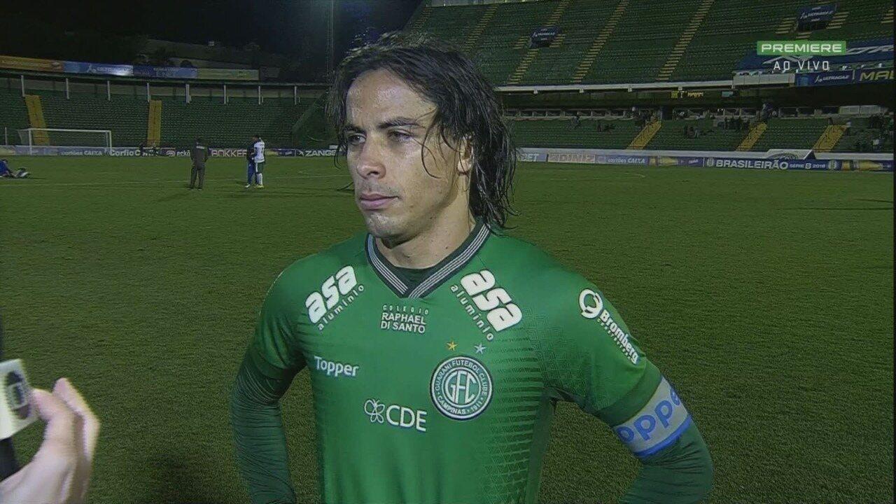 Ricardinho admite nervosismo do Guarani: