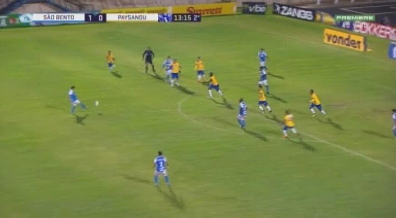 Melhores momentos de São Bento 1 x 0 Paysandu, em Sorocaba, pela 25ª rodada da Série B 2018