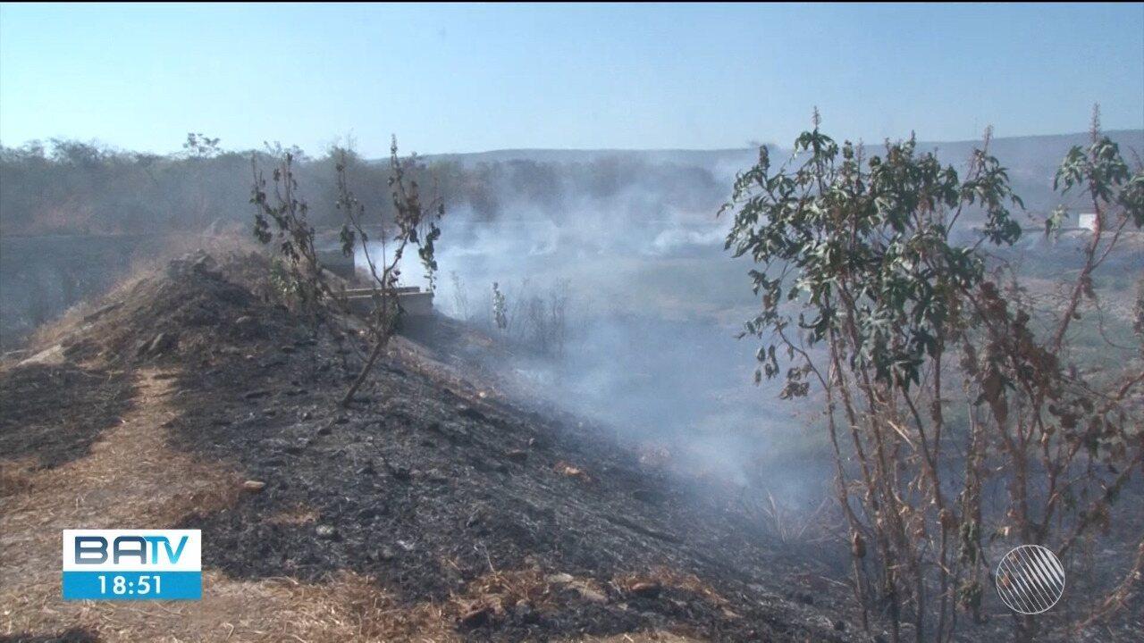 Área equivalente a seis campos de futebol é consumida pelo fogo em Barreiras