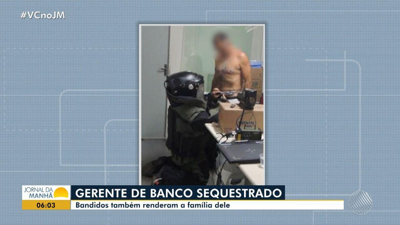 Bandidos amarram explosivos a gerente de banco em tentativa de assalto no norte