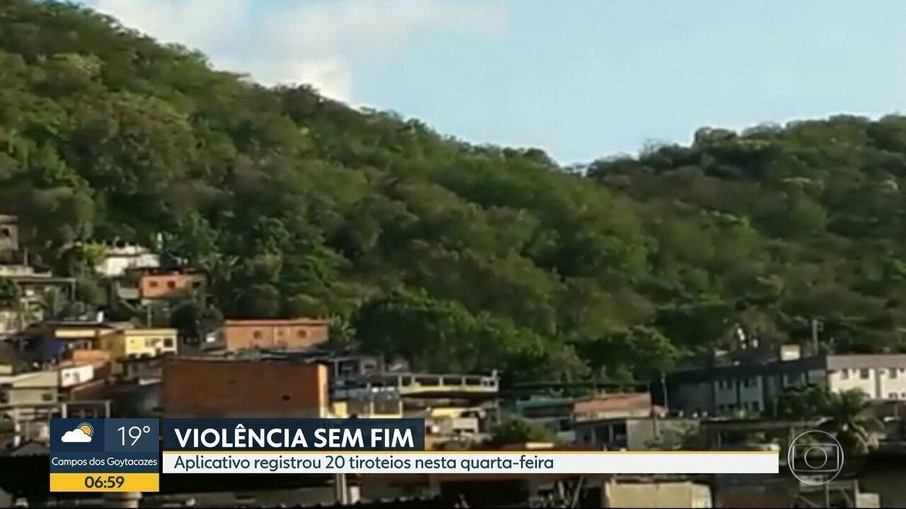 Tiroteio assusta moradores do Morro do Juramento e passageiros de Vicente de Carvalho