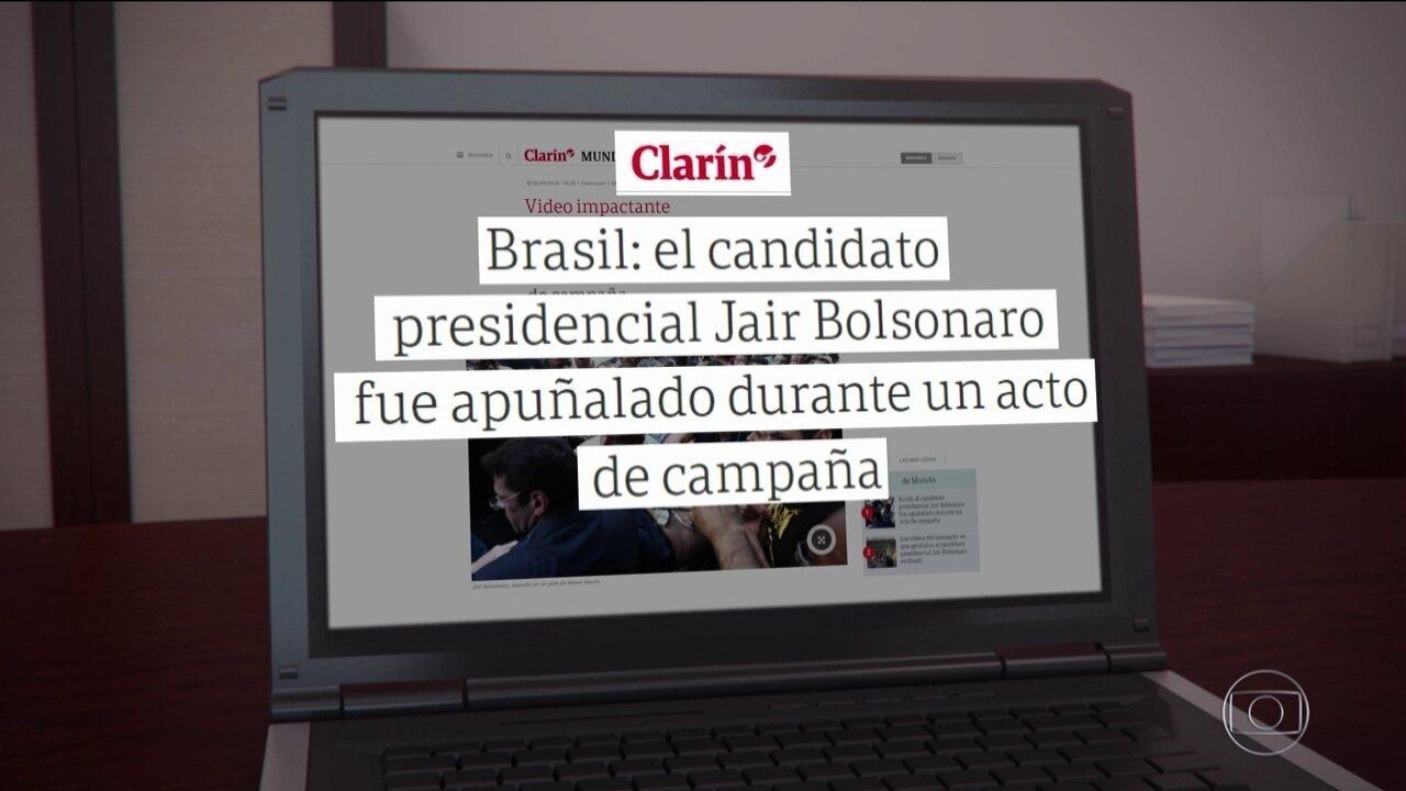 Atentado a Bolsonaro é notícia na imprensa internacional