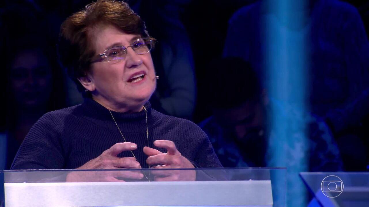 Deolinda Félix chega na pergunta de R$ 100 mil