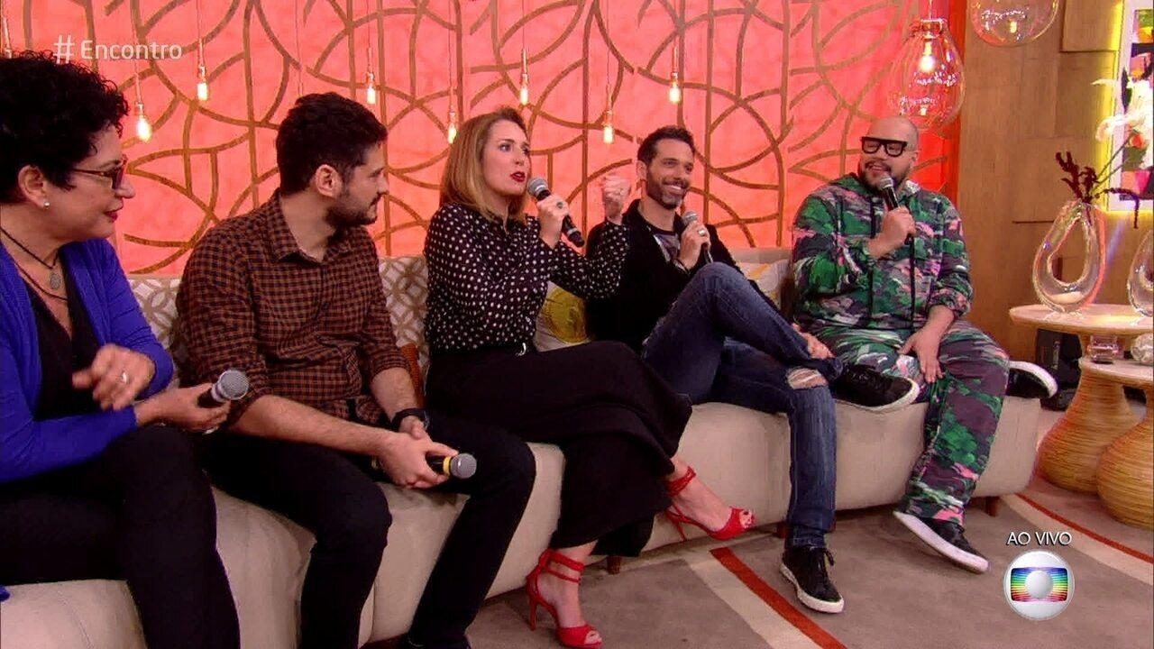Renata Capucci e Mouhamed Harfouch participam do 'Encontro e falam sobre a estreia do 'PopStar'
