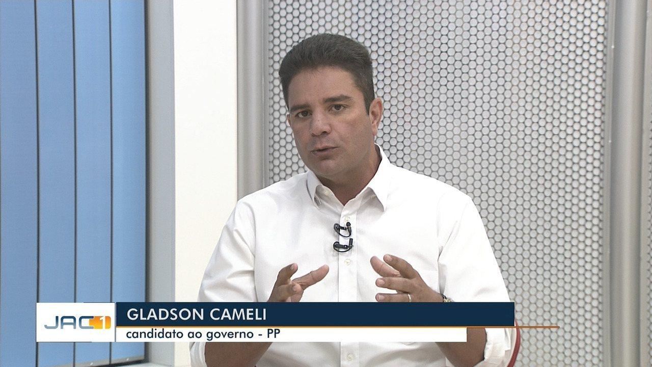 No JAC 1, Gladson Cameli promete 'choque de gestão' e contratação de 2 mil policiais