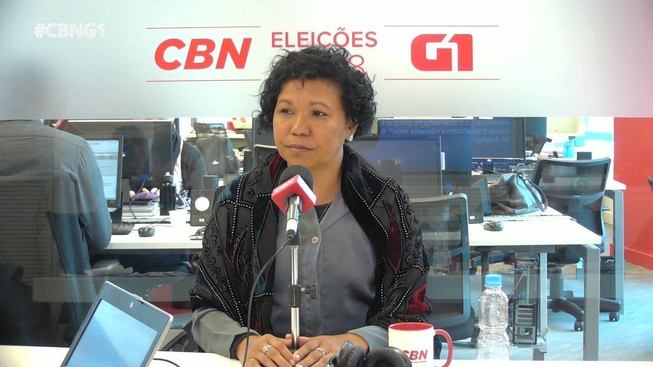 Vera Lúcia responde às perguntas do 'pinga-fogo'