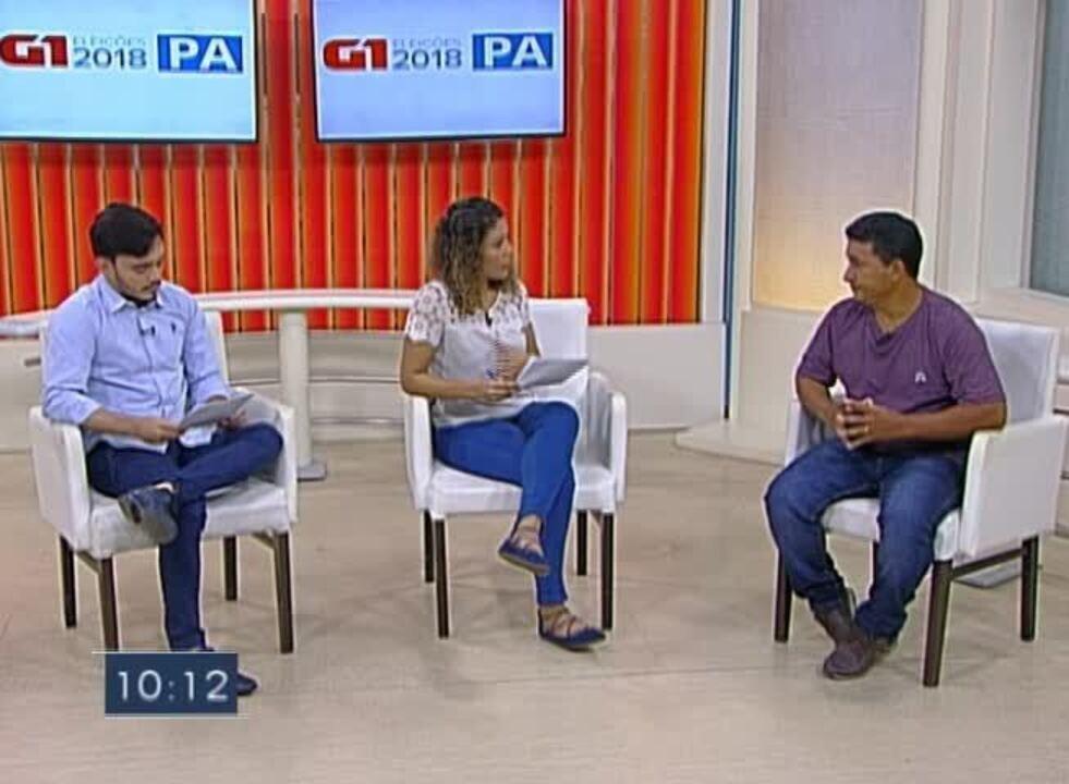 Veja a entrevista que o candidato ao governo Cleber Rabelo deu ao G1 Pará