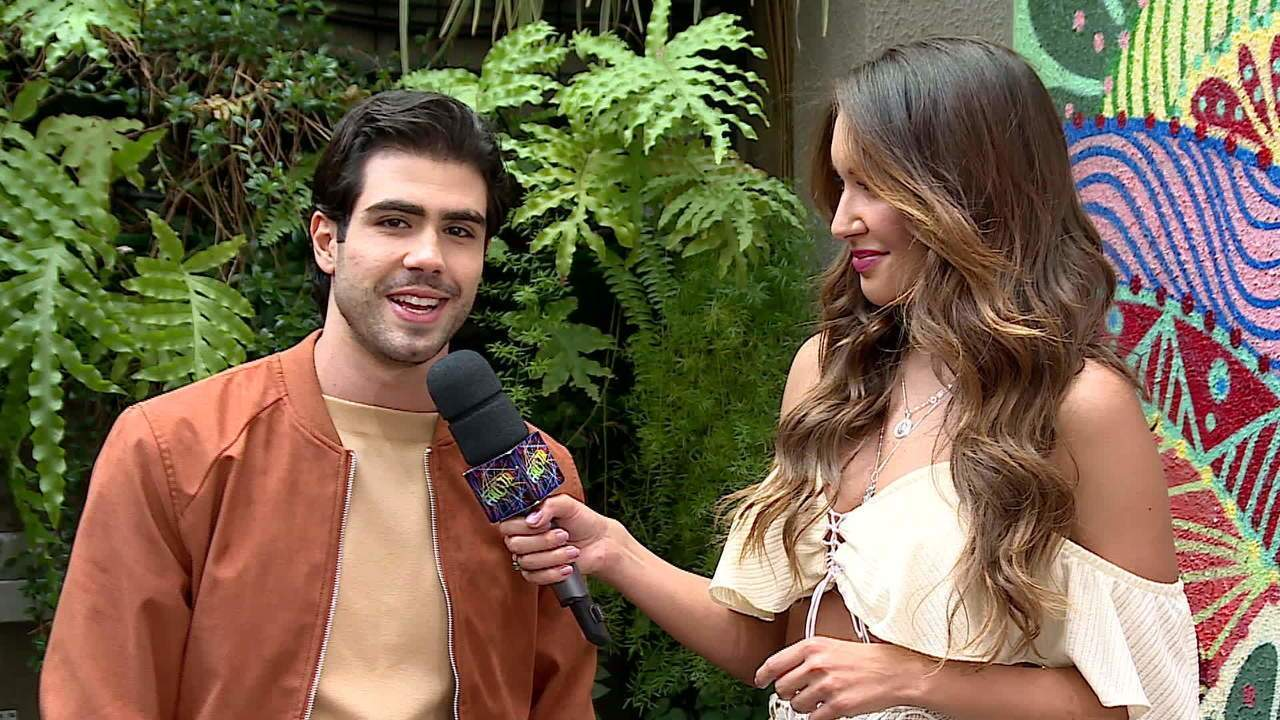 Juliano Laham fala nos bastidores do 'Domingão do Faustão'