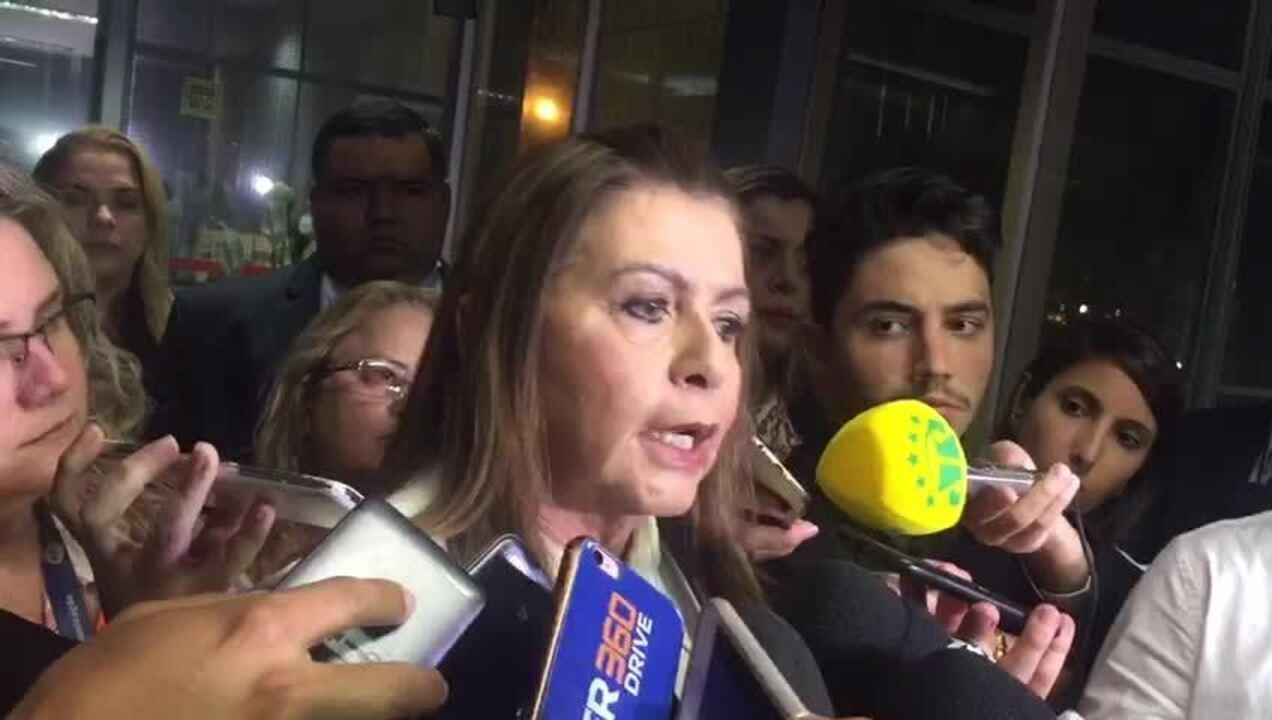 Governadora de Roraima, Suely Campos, concede entrevista após reunião no MME