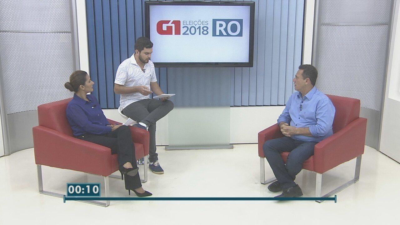Maurão de Carvalho, candidato ao governo de RO, é entrevistado no G1