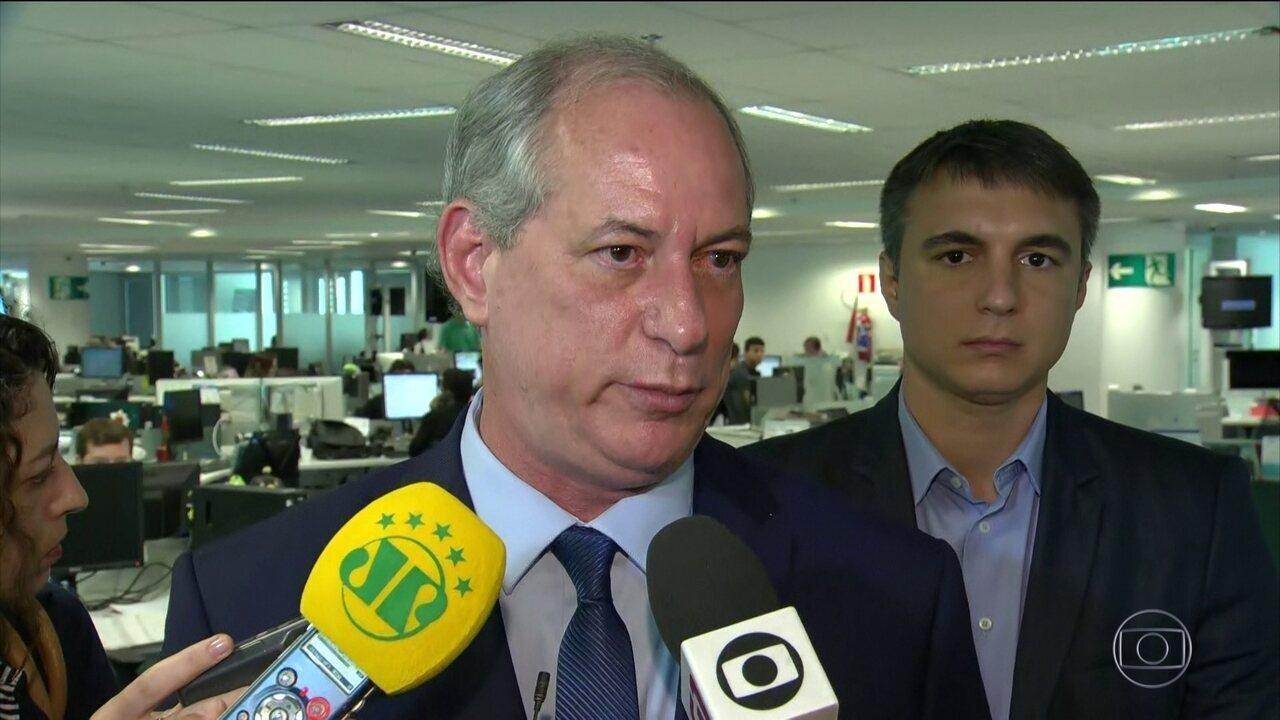 Ciro Gomes é sabatinado no Rio de Janeiro
