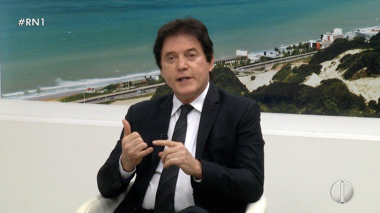 Confira entrevista com o candidato ao governo do RN Robinson Faria