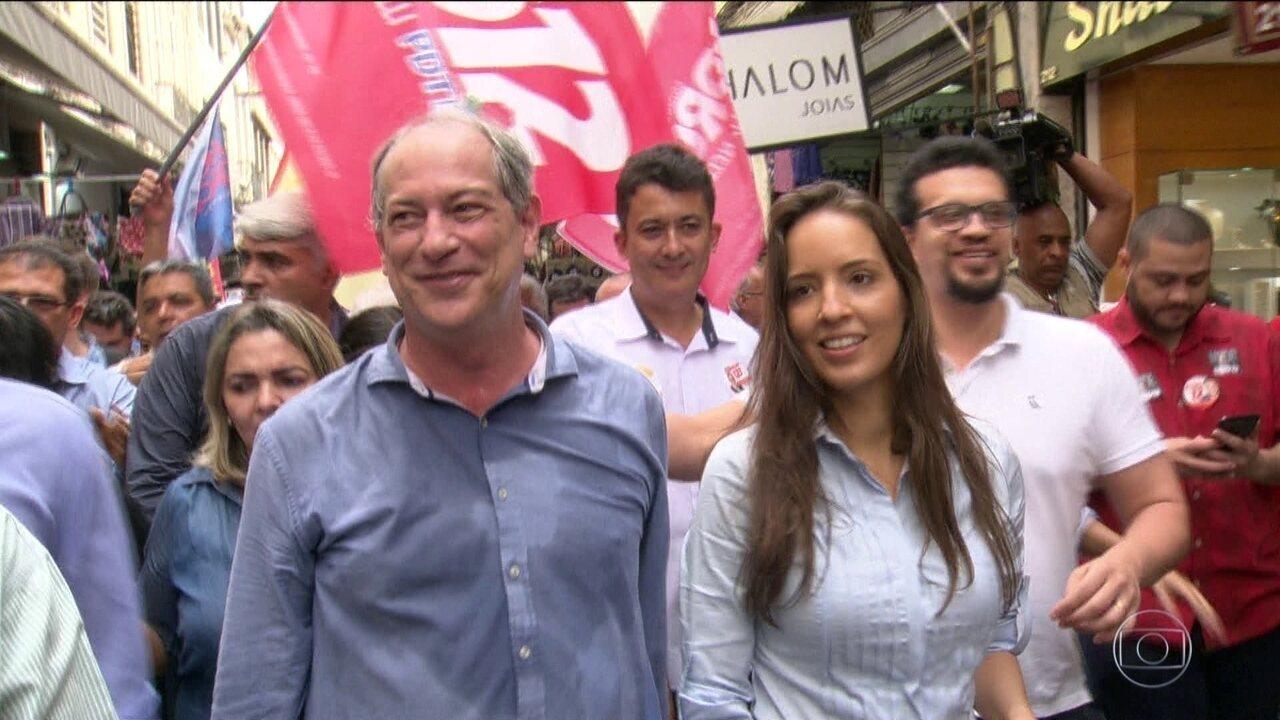 Candidato do PDT, Ciro Gomes, passa o dia no Rio de Janeiro