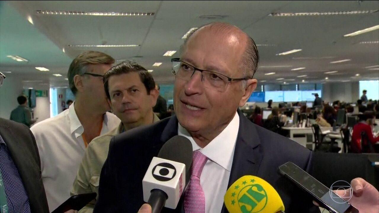 Geraldo Alckmin faz campanha no Rio de Janeiro nesta quinta-feira (13)