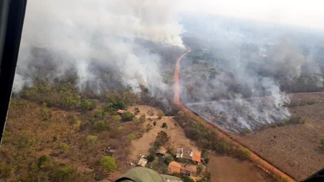 Fogo no Morro de Santo Antônio