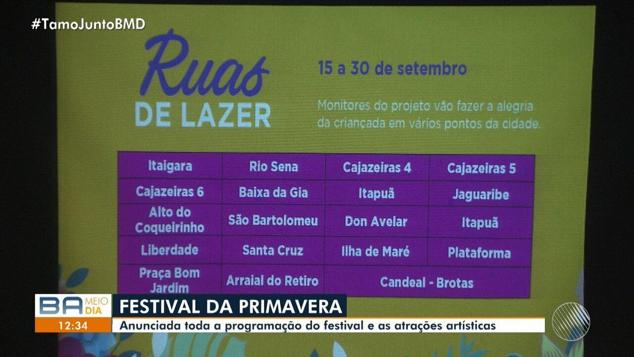 Prefeitura divulga programação do Festival da Primavera 2018