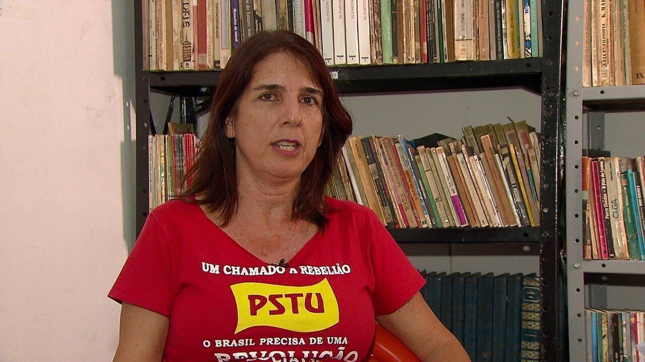 Assista à integra da entrevista com a candidata Simone Fontana, do PSTU, ao G1