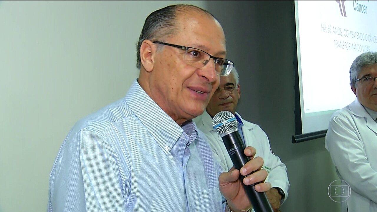 Candidato do PSDB, Geraldo Alckmin, faz campanha no Amapá e no Rio Grande do Norte