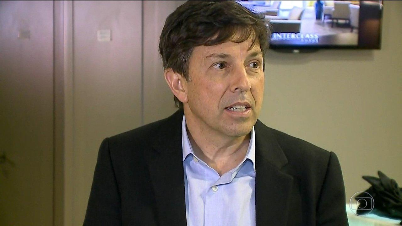 Candidato do Novo, João Amoêdo, faz campanha Santa Catarina