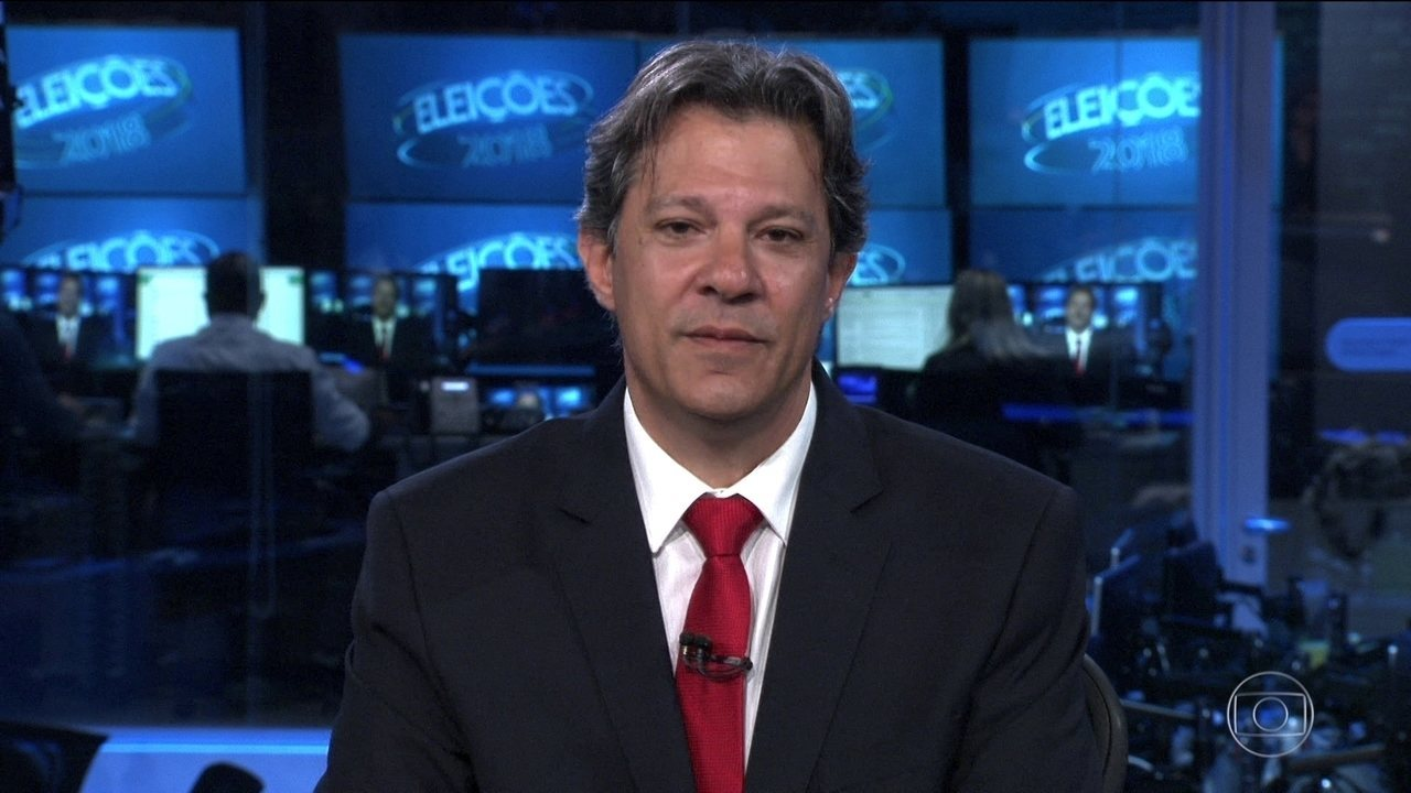 f9b1fa6acc Fernando Haddad (PT) é entrevistado no Jornal Nacional