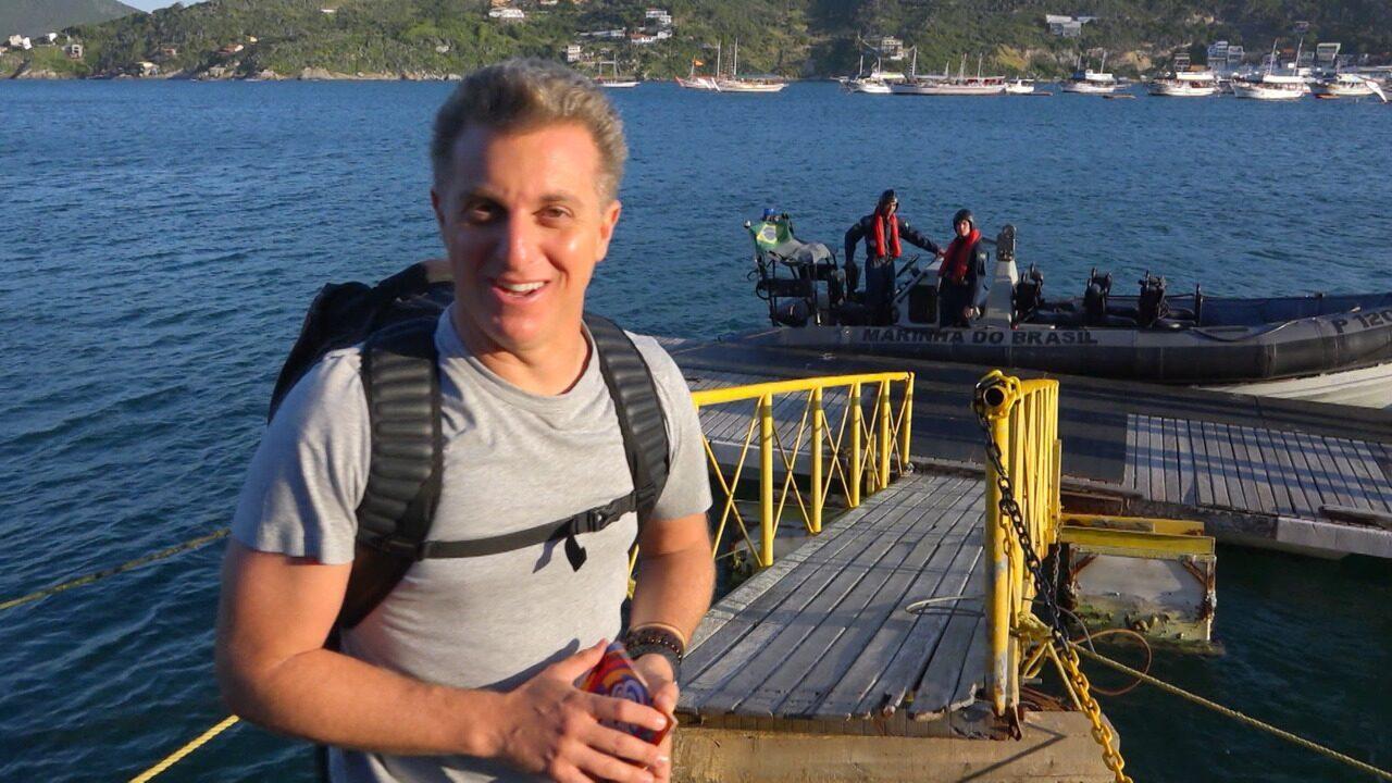 Luciano Huck vai para a Ilha da Trindade