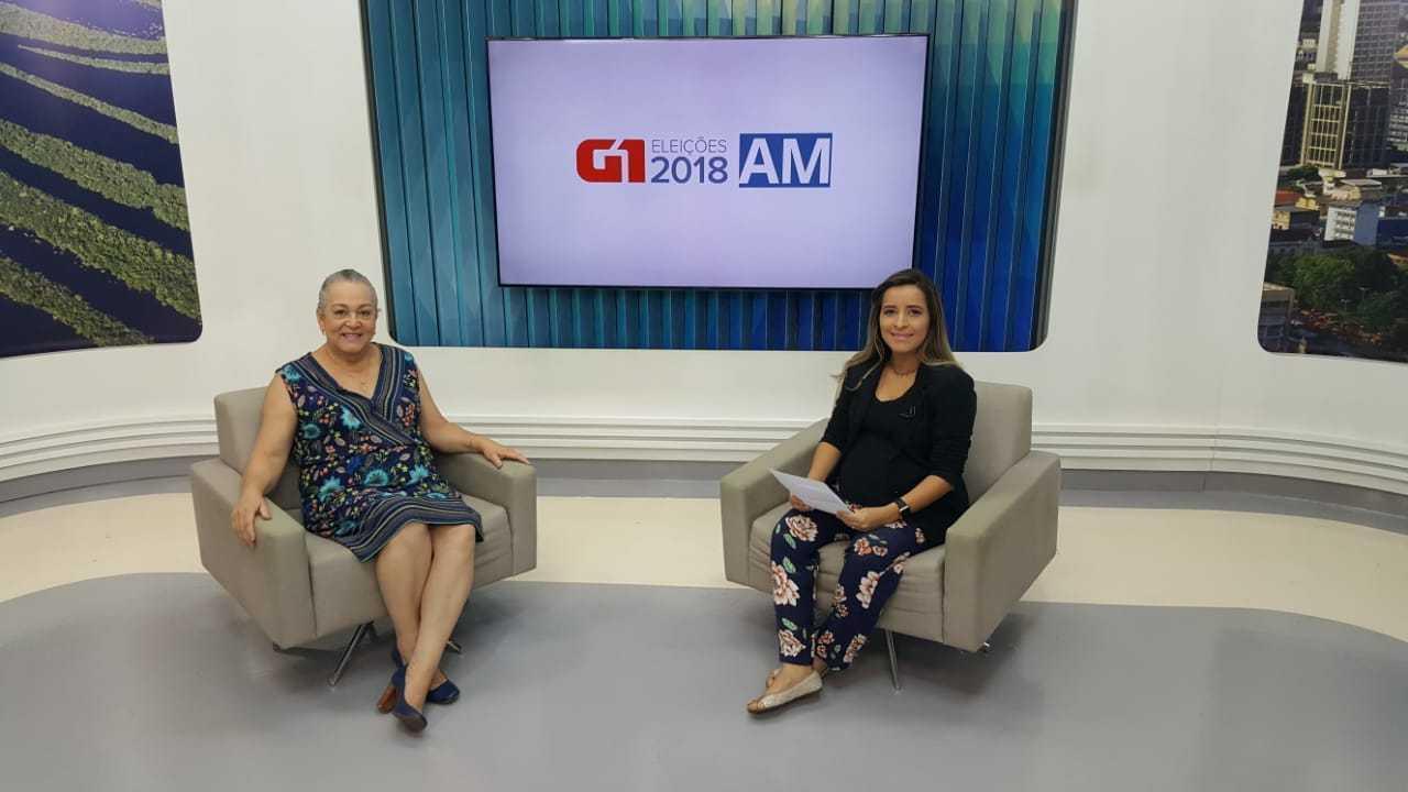 Candidata Lúcia Antony é entrevistada pelo G1 AM