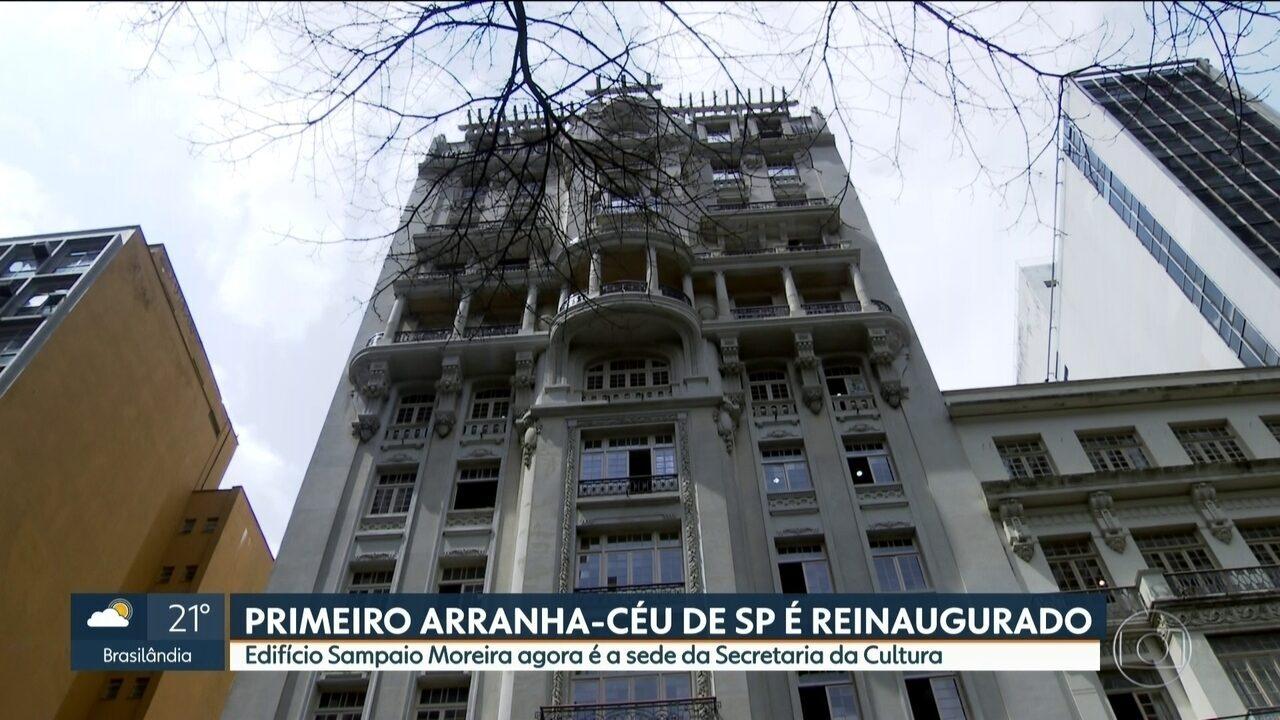 Reinaugurado o primeiro arranha-céu construído na capital