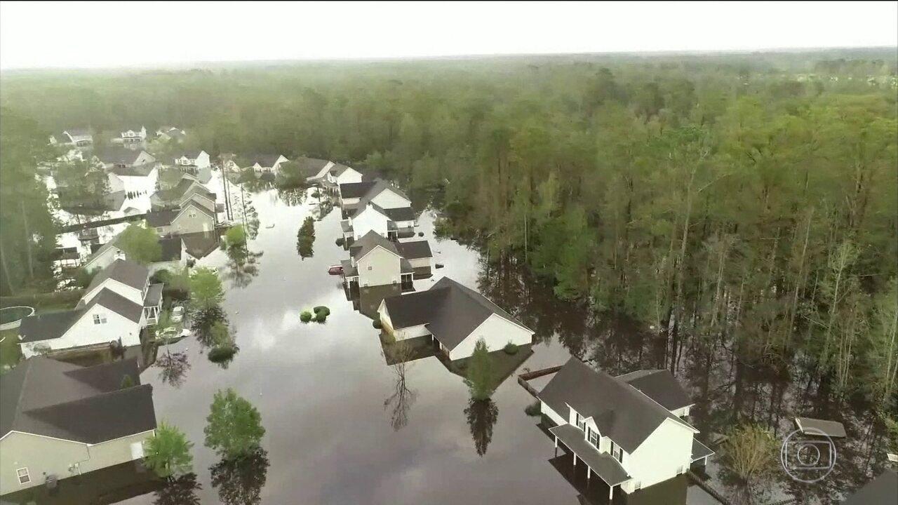 Depressão Tropical Florence provoca enchentes catastróficas nos EUA