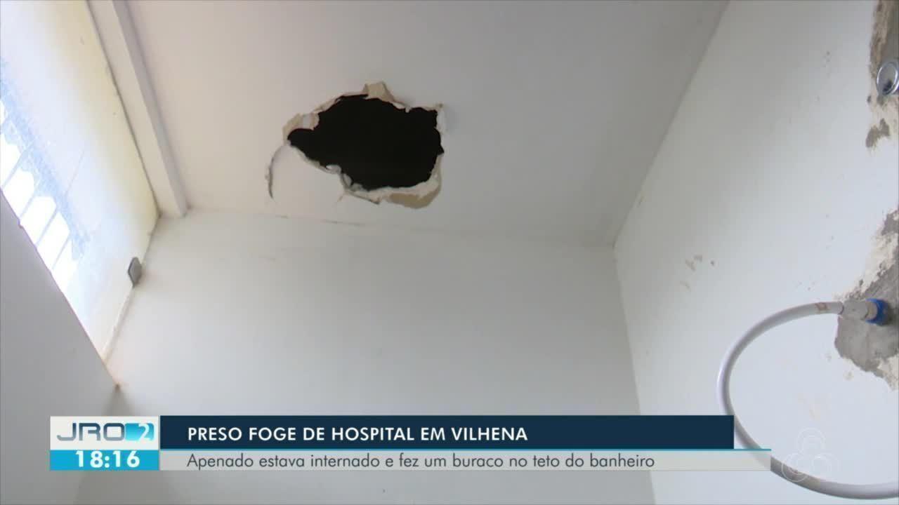 Preso foge de hospital em Vilhena