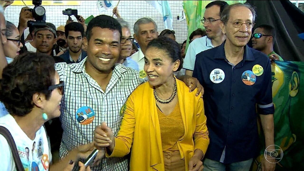 Candidata da Rede, Marina Silva, faz campanha em Sergipe