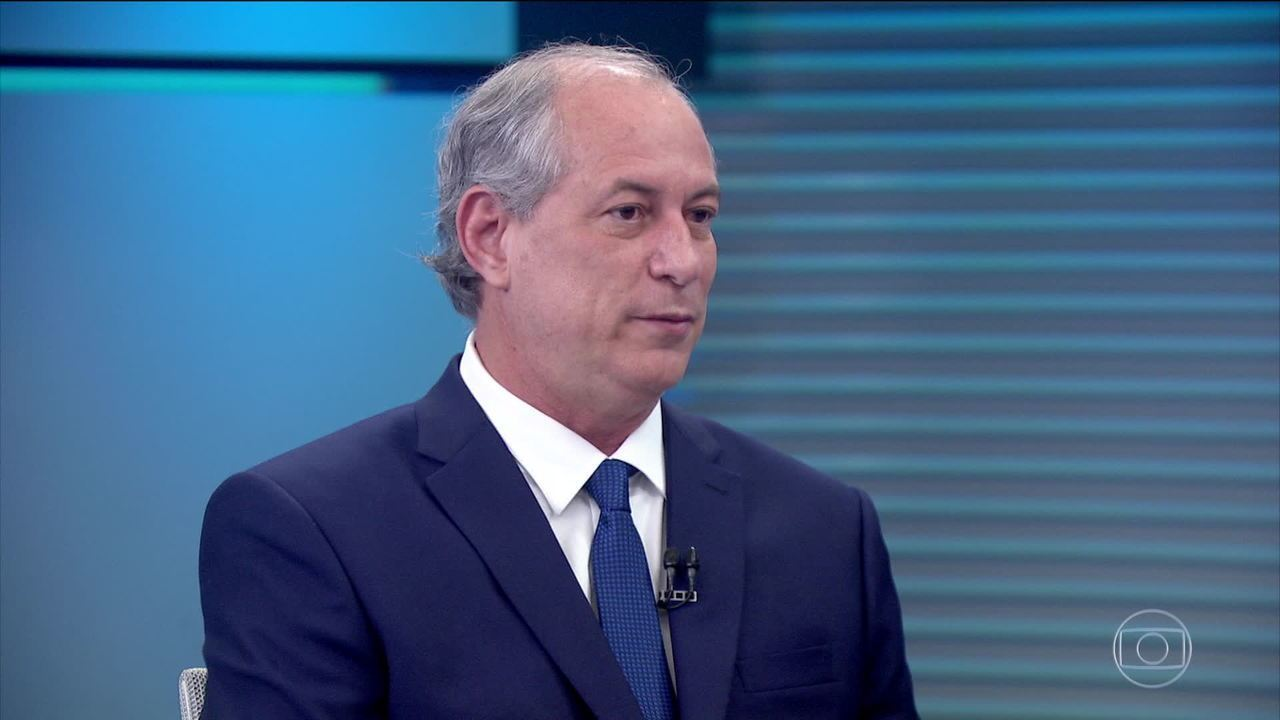 Ciro Gomes (PDT) é entrevistado no Jornal da Globo