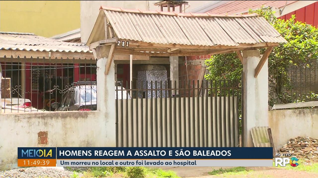 Homem reage a roubo e morre baleado pelos assaltantes, em Fazenda Rio Grande