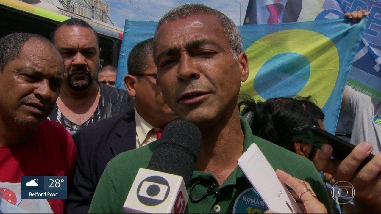 Romário faz campanha em Campo Grande