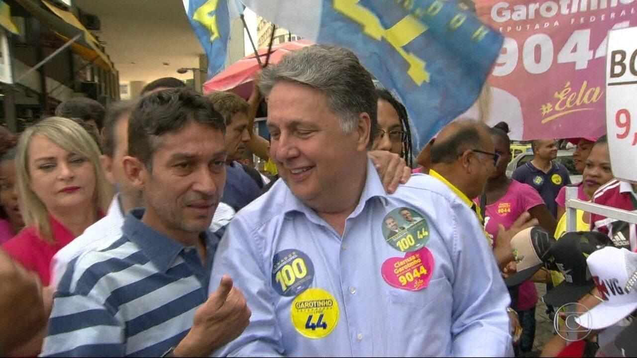 Garotinho faz campanha no Centro do Rio
