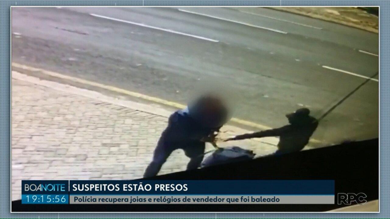 Polícia prende dois suspeitos por roubar e atirar em joalheiro em Ponta Grossa