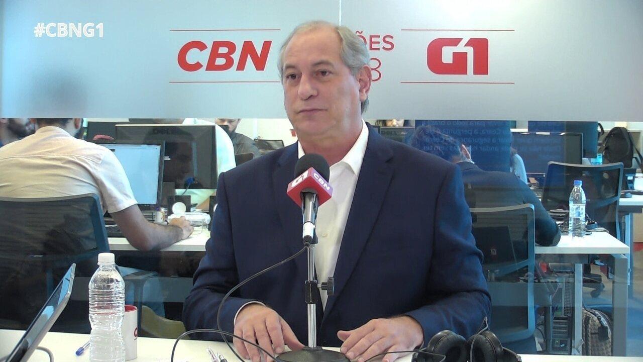 Ciro Gomes fala sobre segurança no Ceará e propostas contra violência
