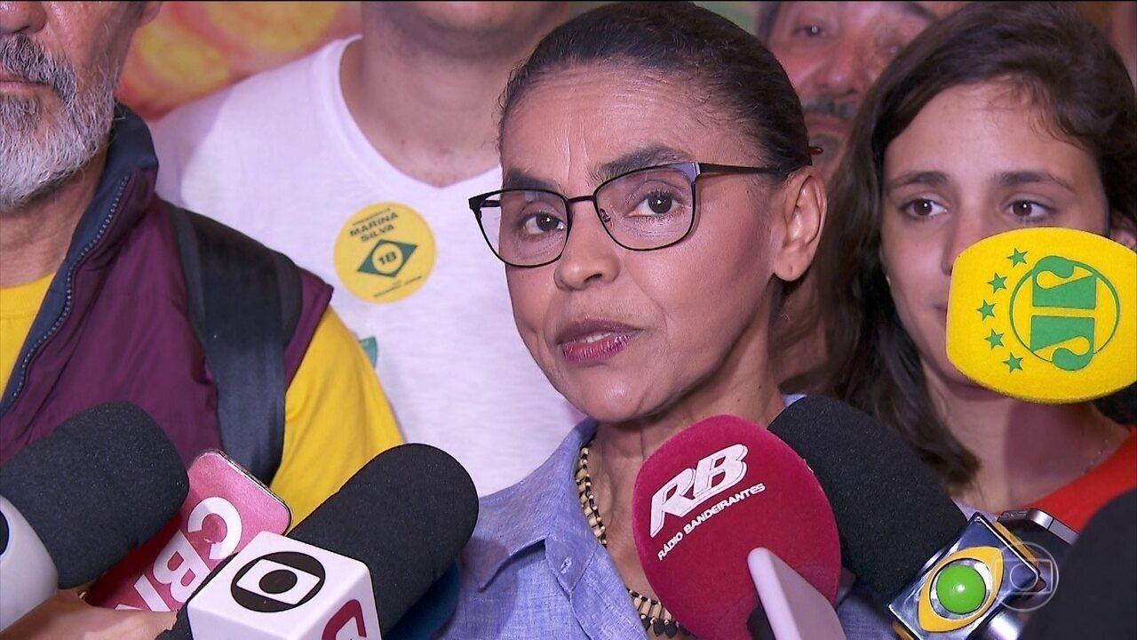 Marina Silva visita centro de parto humanizado em São Paulo