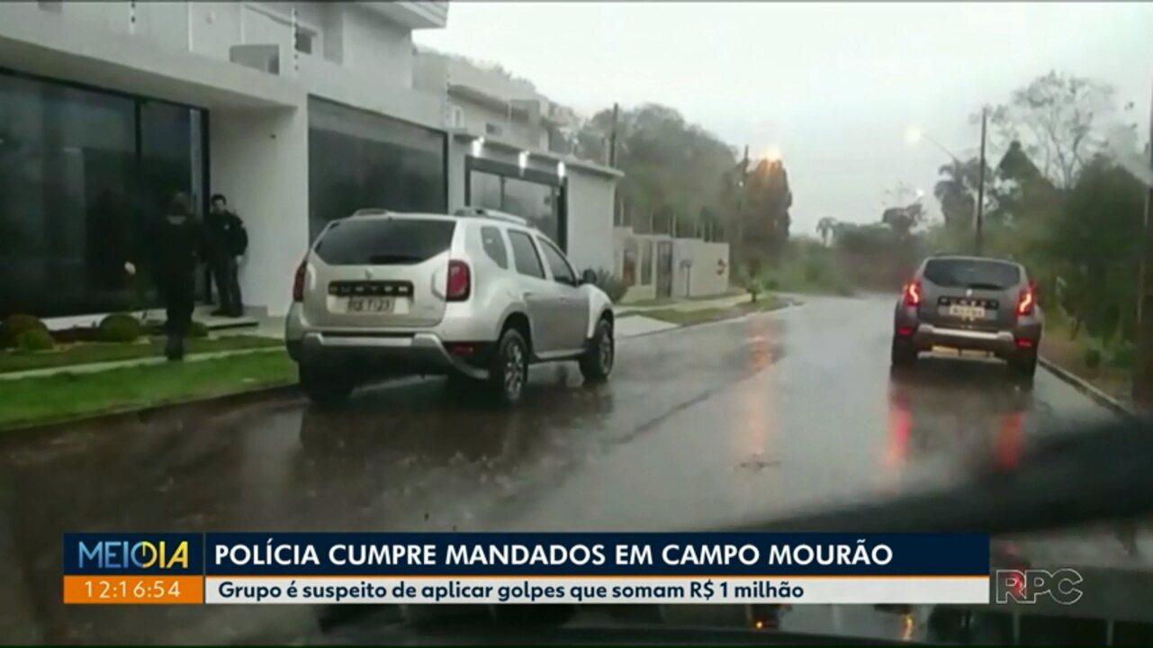 Polícia cumpre mandados contra pessoas que estariam aplicando golpes em Campo Mourão