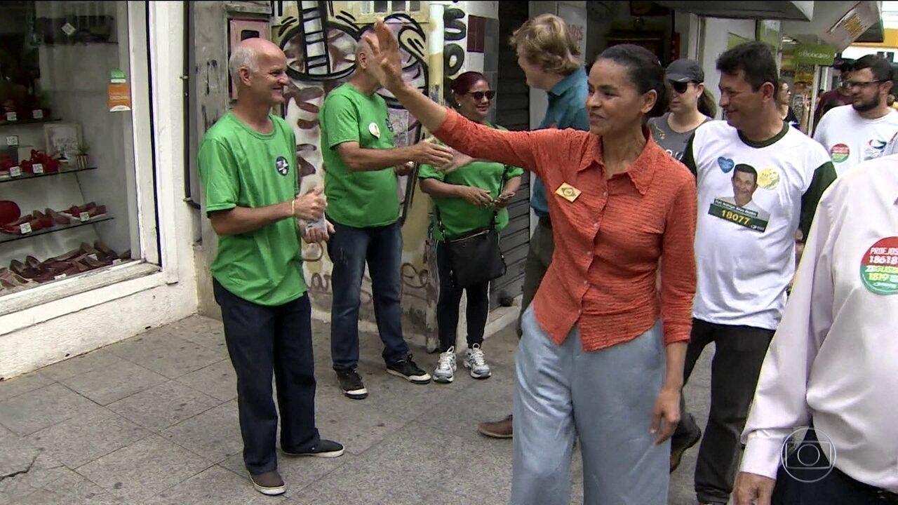 Candidata da Rede, Marina Silva, faz campanha no interior paulista