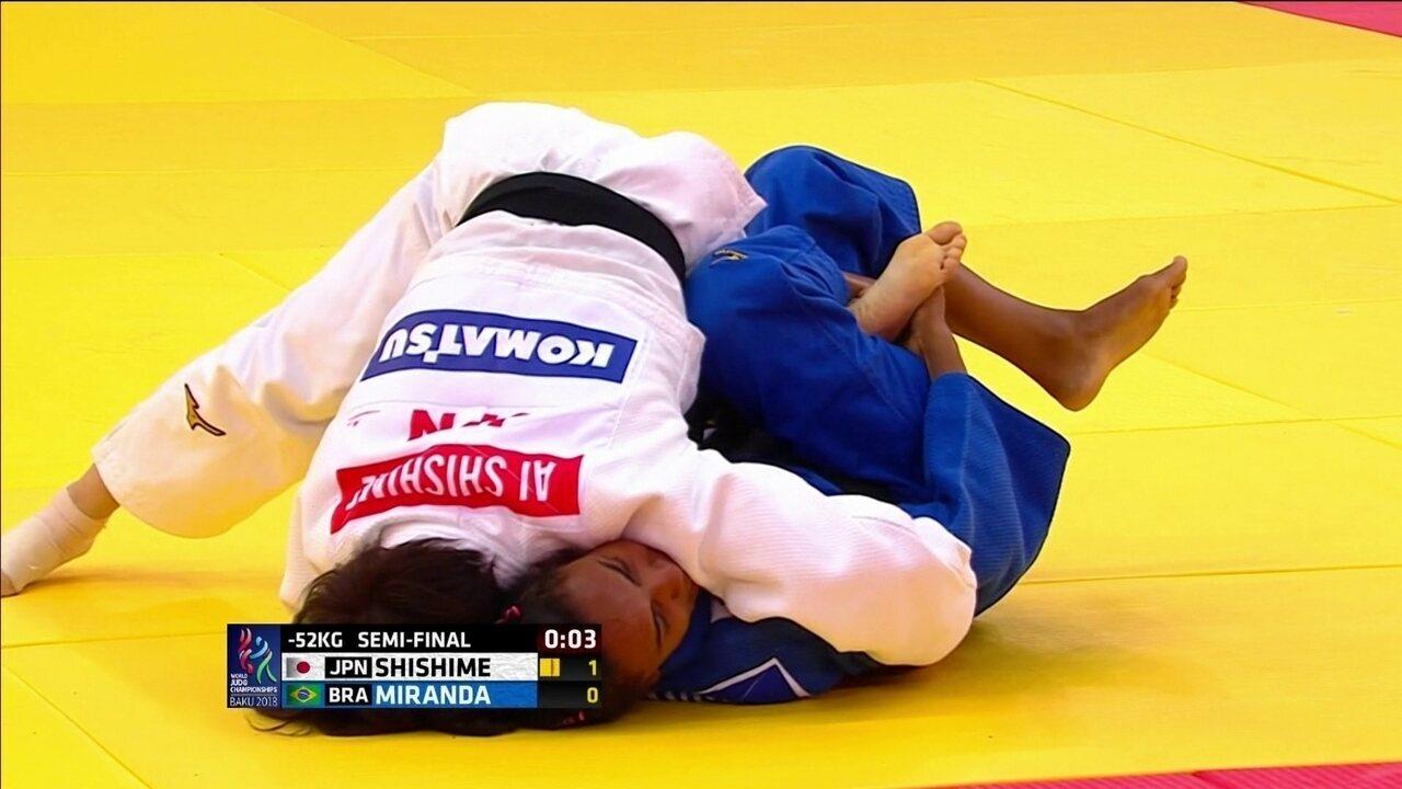 Reveja a semifinal da brasileira Érika Miranda diante da atual campeã Shishime