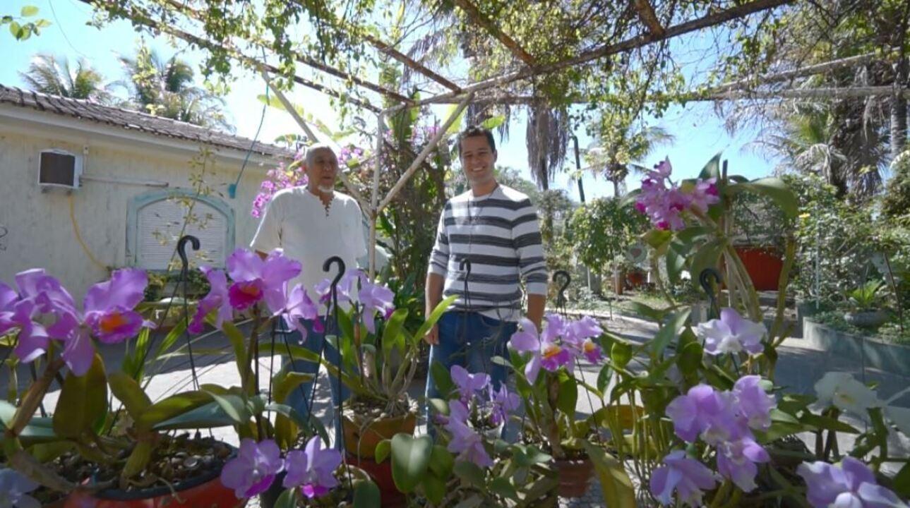 No 'Colecionando' deste sábado (22), Pedro Leonardo visita um orquidófilo