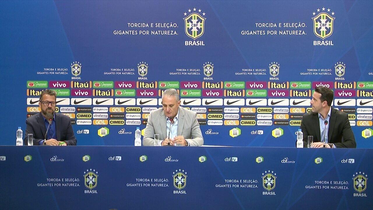 Tite divulga relação de 23 jogadores para amistosos contra Arábia Saudita e Argentina