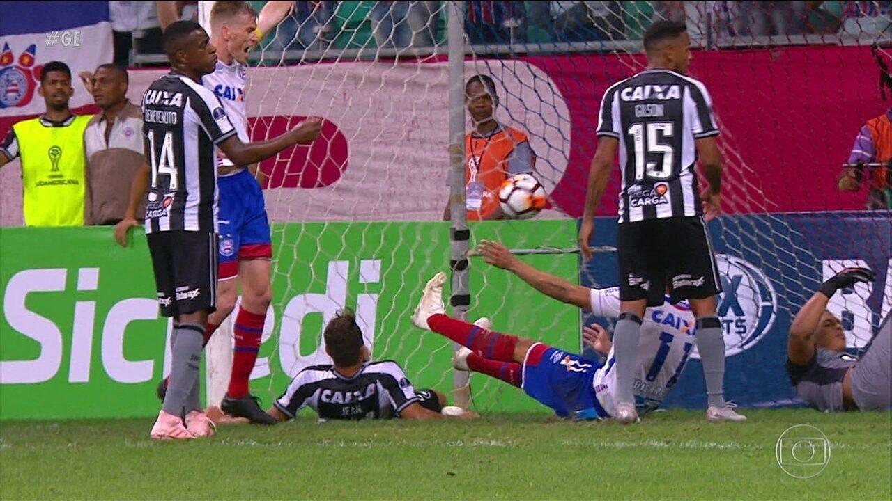 Veja os gols da vitória do Bahia sobre o Botafogo pela Sul-Americana