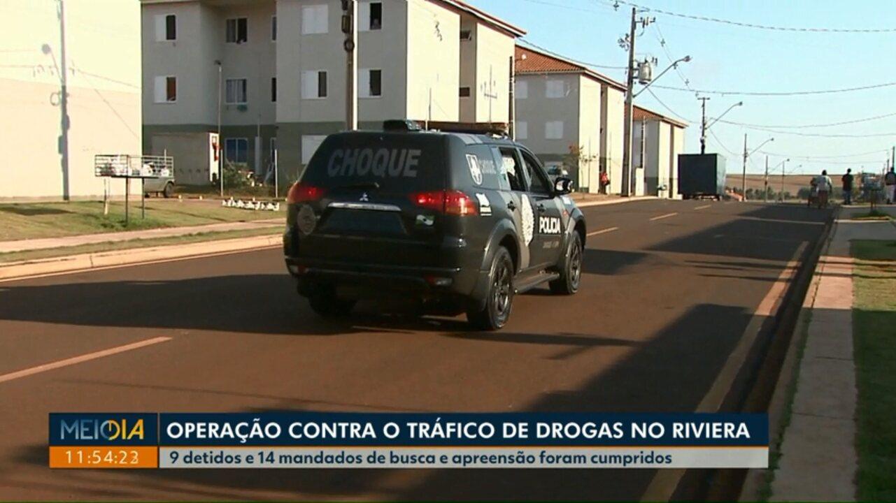 Após denúncia de moradores, operação contra o tráfico de drogas é feita no Riviera