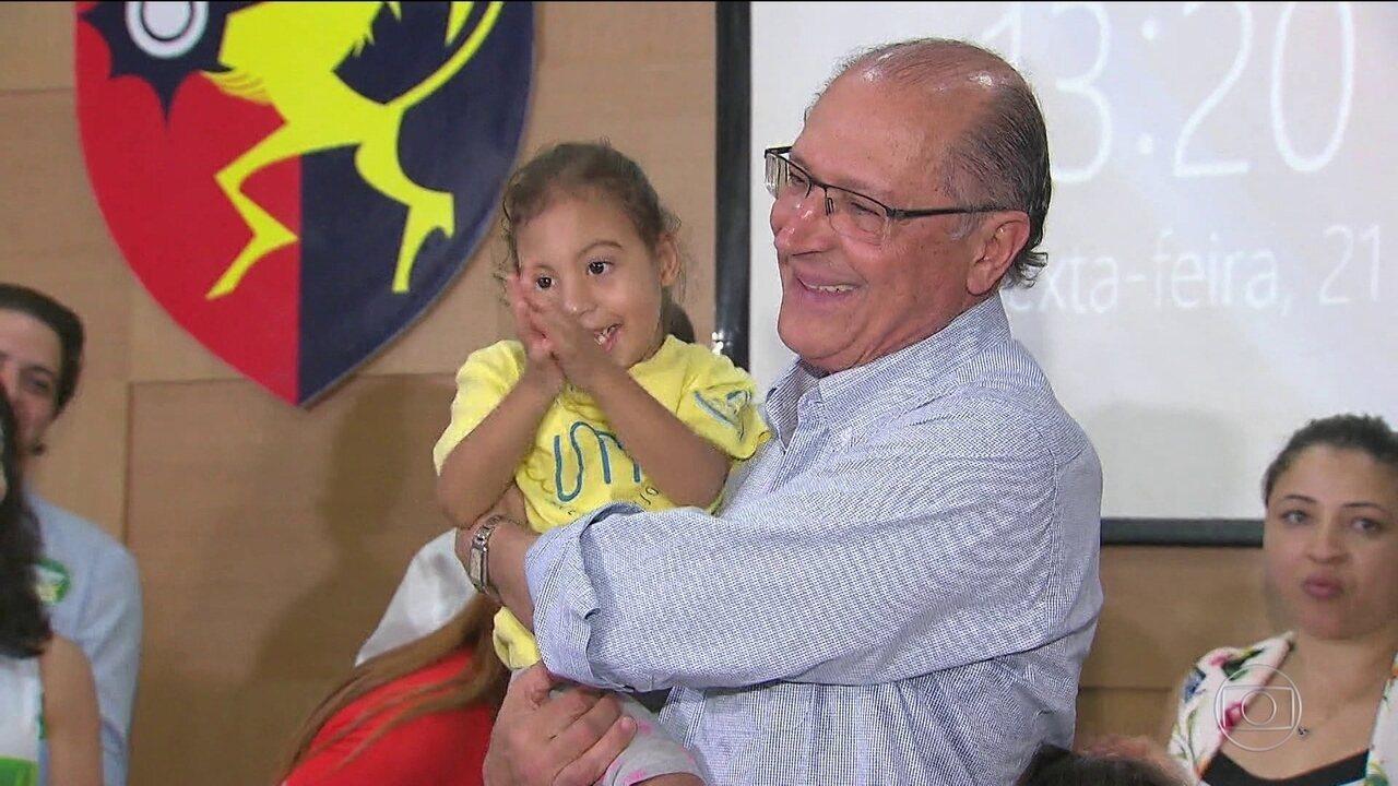 Candidato do PSDB, Geraldo Alckmin, fez campanha no Nordeste