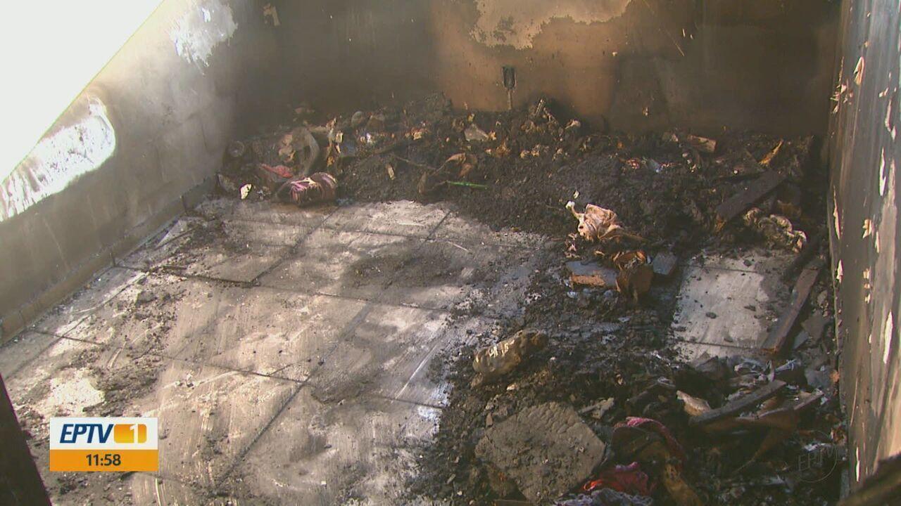 Vizinhos de apartamento incendiado temem estragos em outras partes de prédio em Araraquara