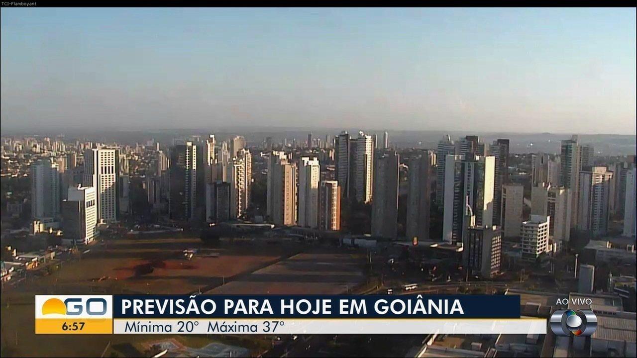 Confira a previsão do tempo para Goiás nesta segunda-feira (24)