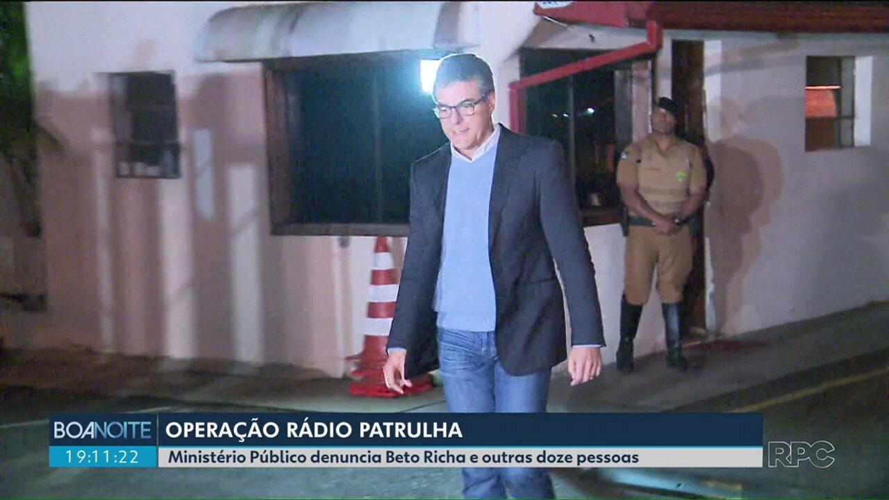Ministério Público denuncia o ex-governador Beto Richa e outras doze pessoas