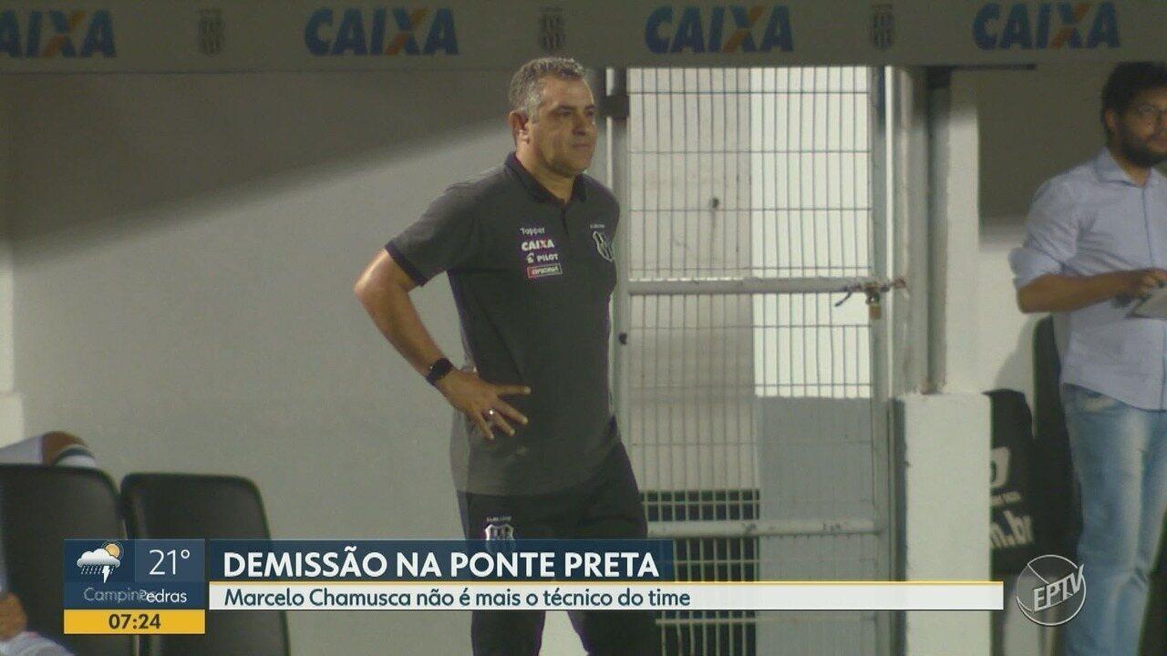 Marcelo Chamusca é demitido da Ponte Preta após 25 dias no comando